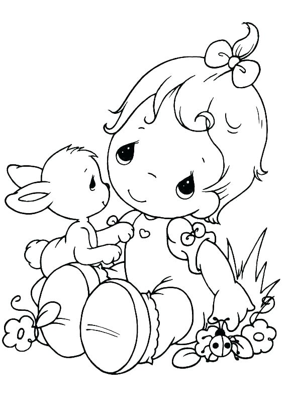 567x794 Precious Moments Animals Coloring Pages Precious Moments Baby