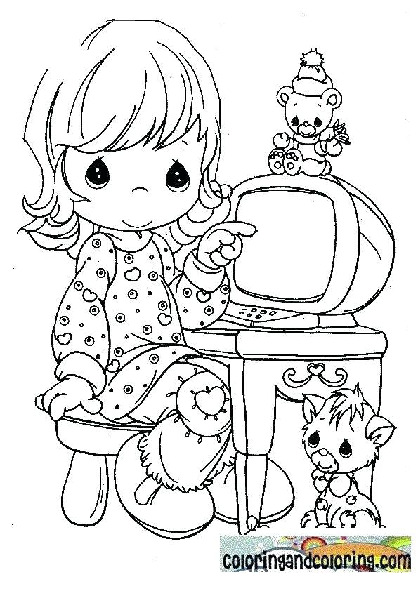 595x842 Precious Moments Valentine Coloring Pages Precious Moments