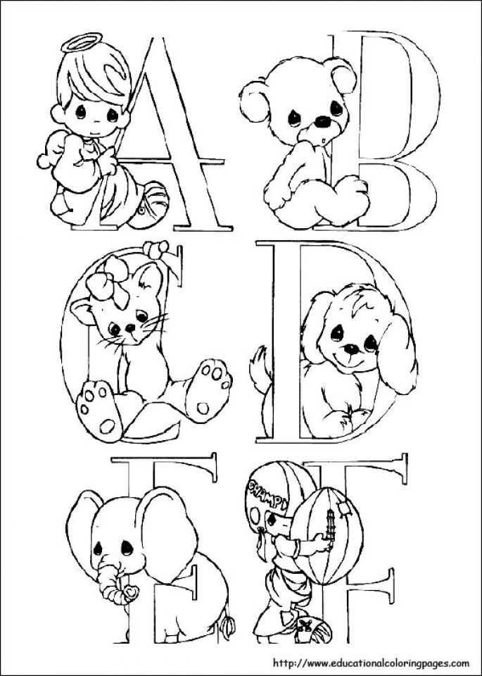 685x960 Get This Precious Moments Coloring Pages Alphabet Free Printable