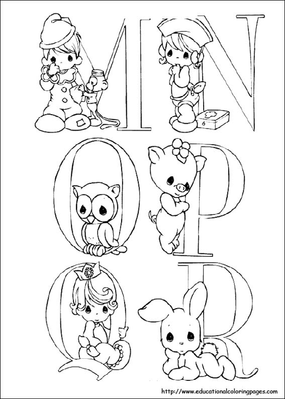567x794 Precious Moments Coloring Pages Alphabet