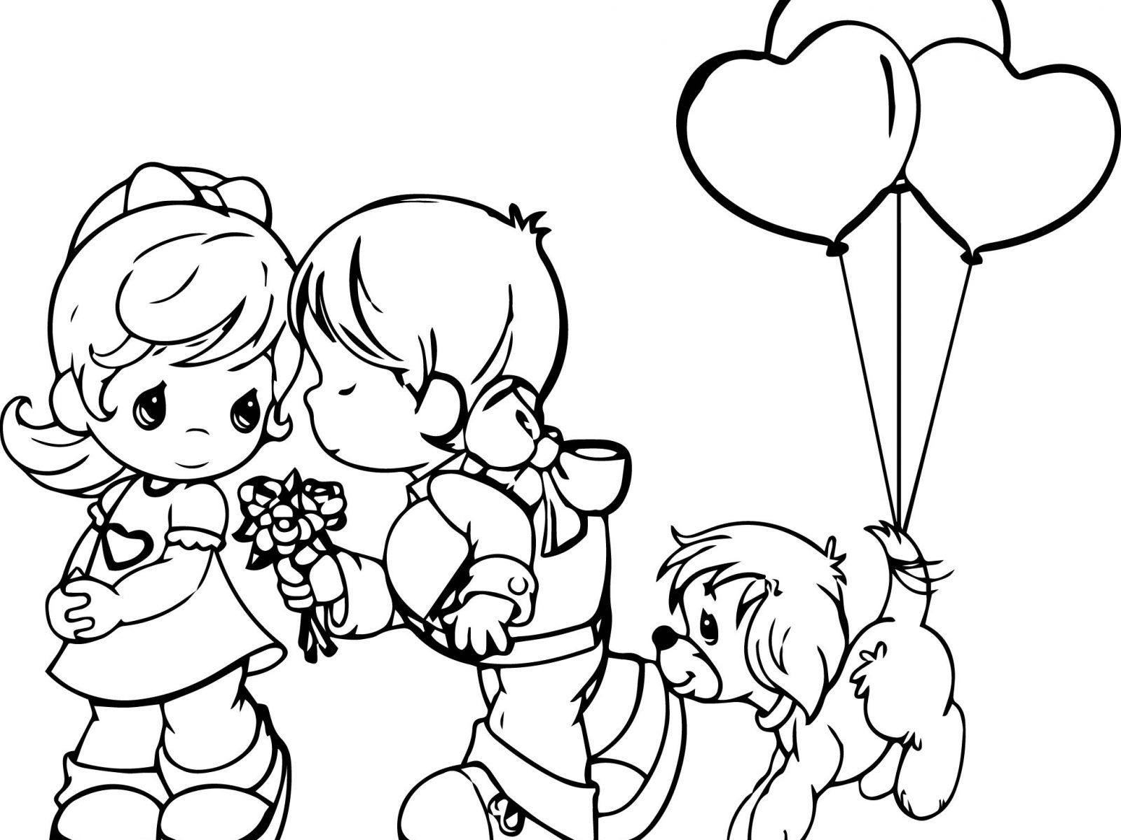 1600x1200 Precious Moments Coloring Pages Family Free Printable Cartoons
