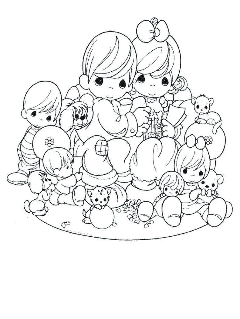 791x1050 Precious Moments Wedding Coloring Pages Free Printable Precious