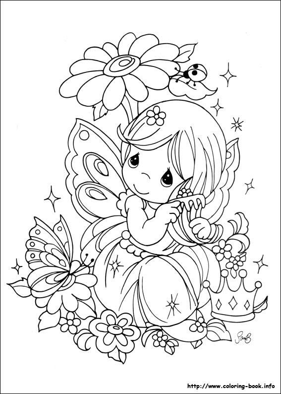 567x794 Precious Moments Coloring Picture