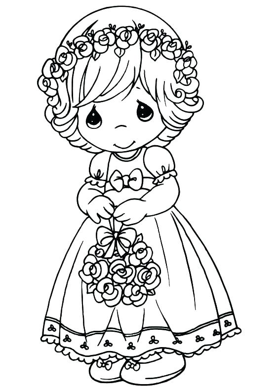 567x794 Free Precious Moments Coloring Pages