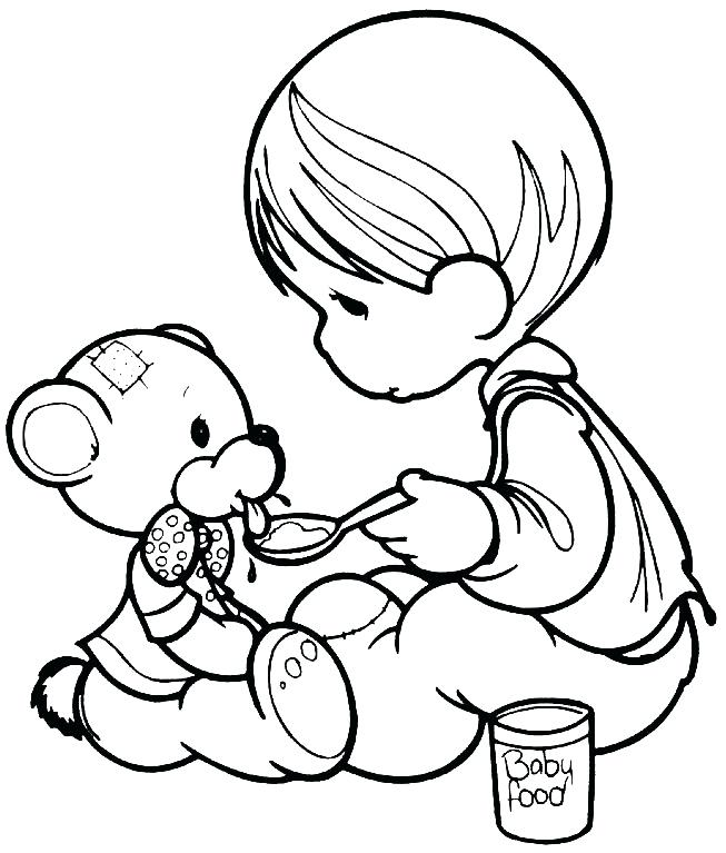 653x767 Best Precious Moments Coloring Pages Images On Precious Moments