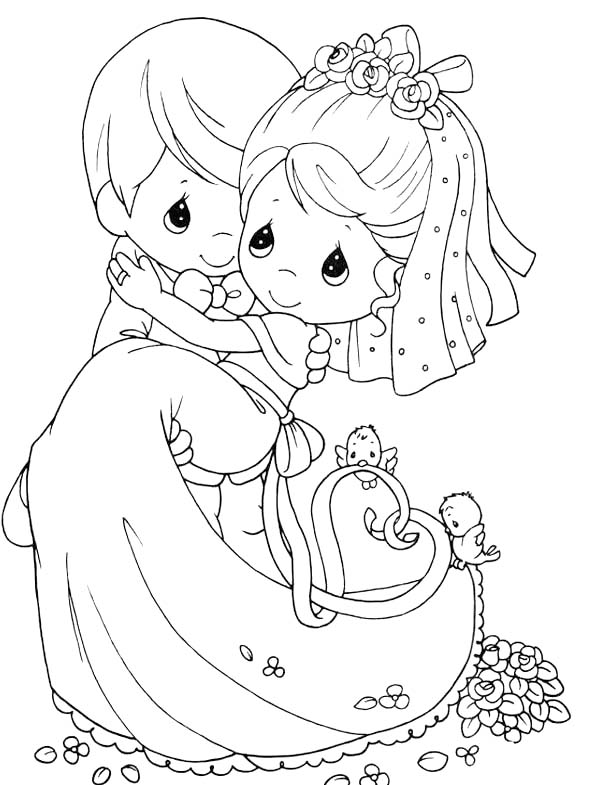 595x785 Married Precious Moments Coloring Pages