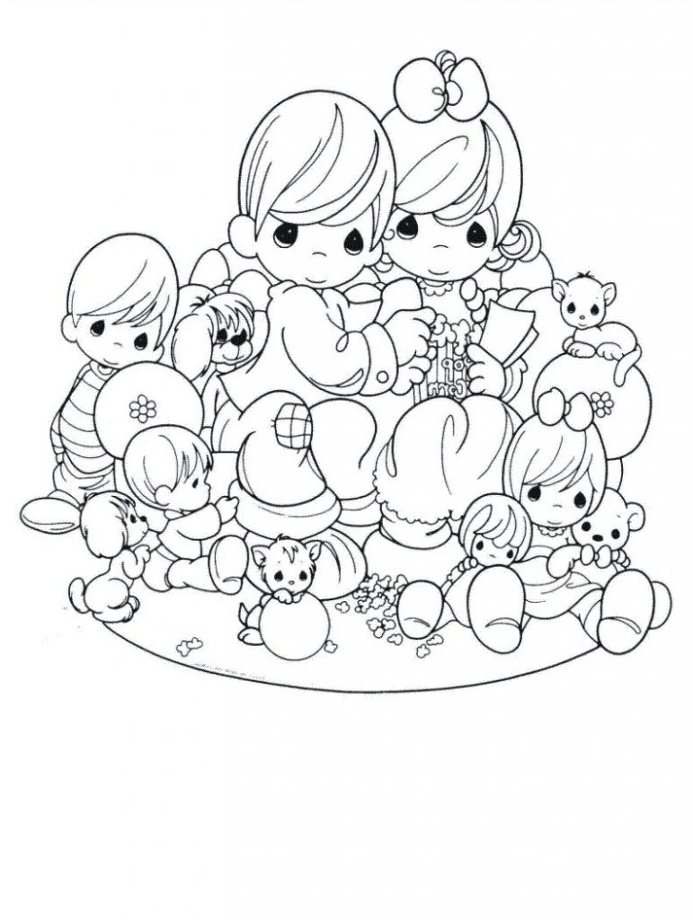 771x1024 Perfect Free Precious Moments Coloring Pages For Kids Printable