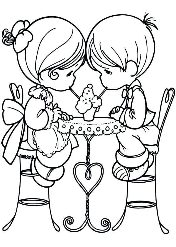 600x840 Precious Moments Valentine Coloring Pages Precious Moments