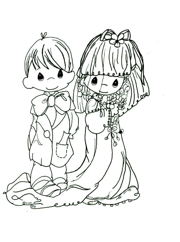 578x777 Precious Moments Wedding Coloring Pages