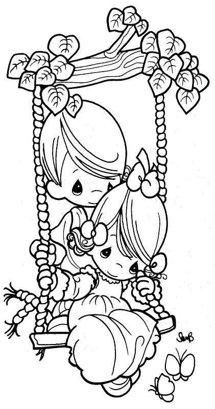 421x800 Coloring Pages Couple In A Swing