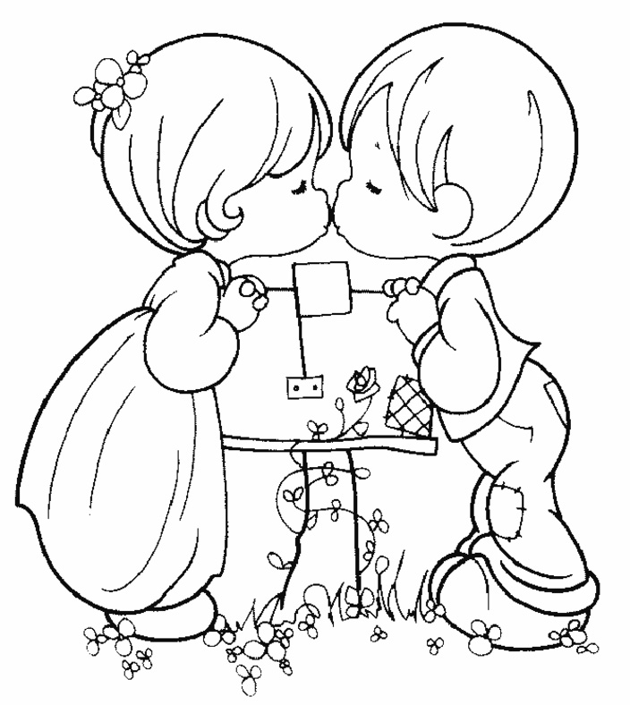 704x788 Easy Printable Precious Moments Coloring Pages
