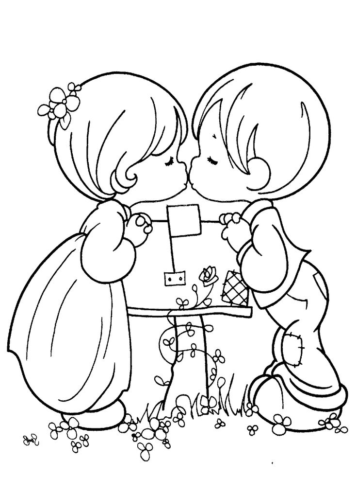 Precious Moments Friends Coloring Pages