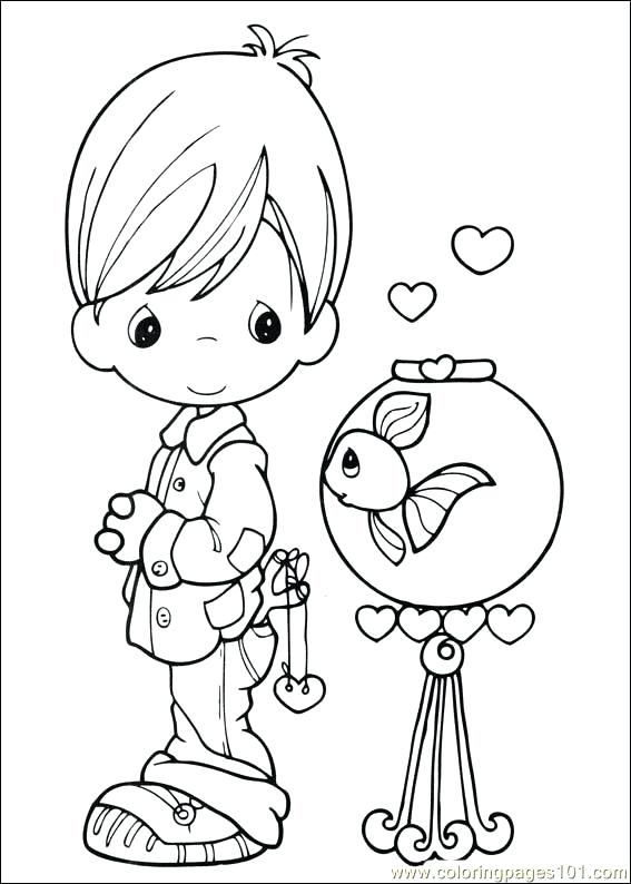 567x794 Free Printable Precious Moments Coloring Pages For Kids Precious