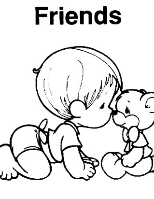 319x412 Precious Moments Coloring Pages All Kids Network