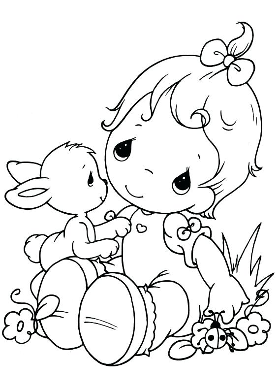 567x794 Precious Moments Coloring Pages Alphabet Free Printable For Kids