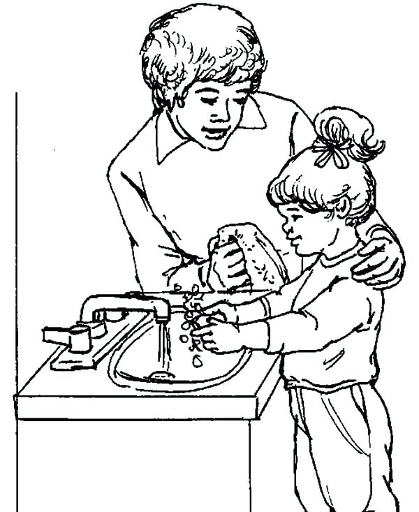 600x733 Precious Moments Coloring Pages Best Friends Learning To Washing
