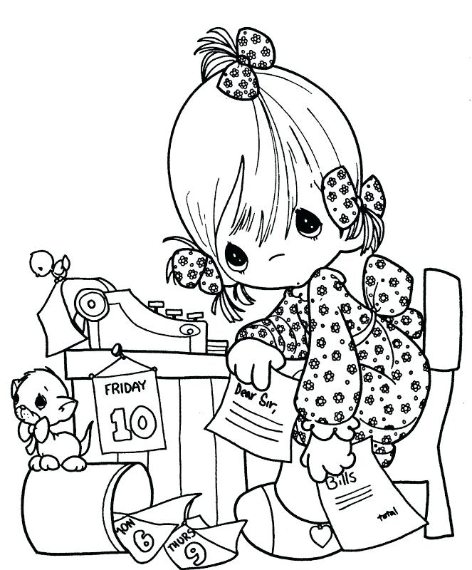 663x800 Precious Moments Coloring Pages Best Friends St Day