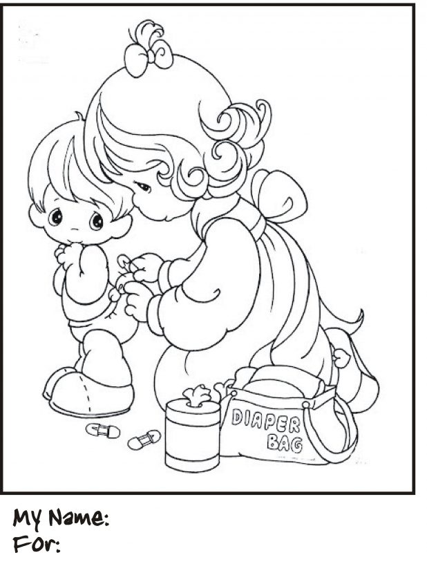 618x816 Adult Precious Moments Baby Coloring Pages Precious Moments Baby
