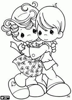 236x327 Coloring Pages Precious Moments