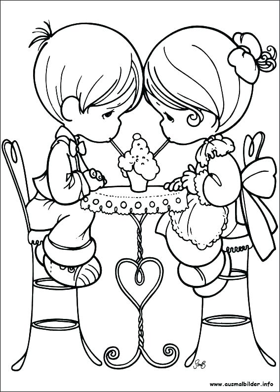 567x794 Free Printable Precious Moments Coloring Pages For Kids Jesus