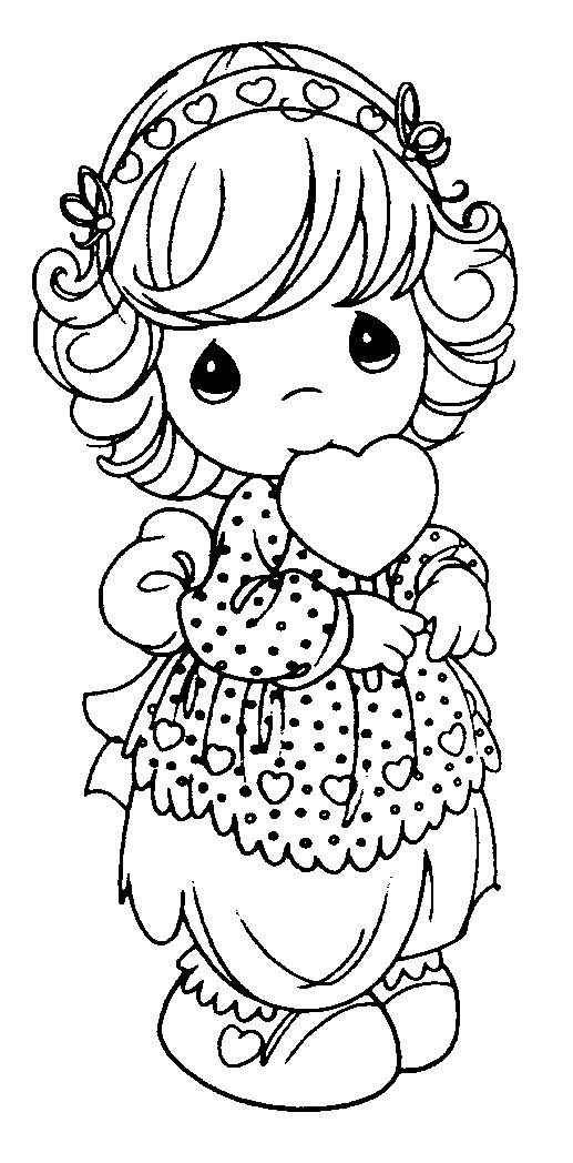 517x1048 Precious Moments Coloring Page
