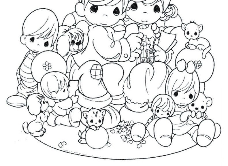 Precious Moments Girl Coloring Pages At Getdrawings Com
