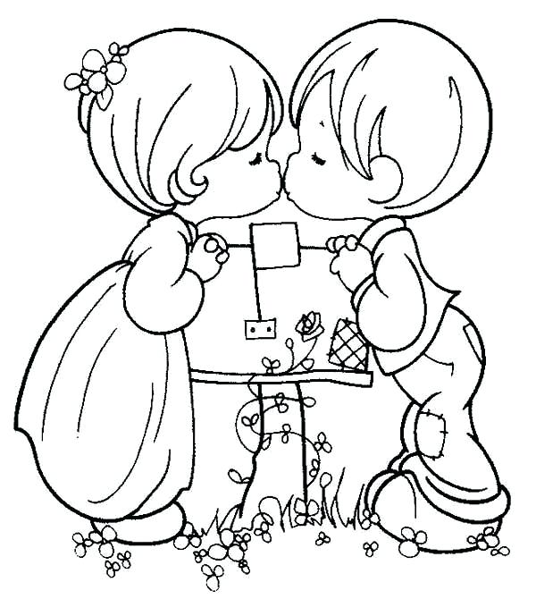 600x670 Precious Moments Coloring Pages Free Printable Precious Moments