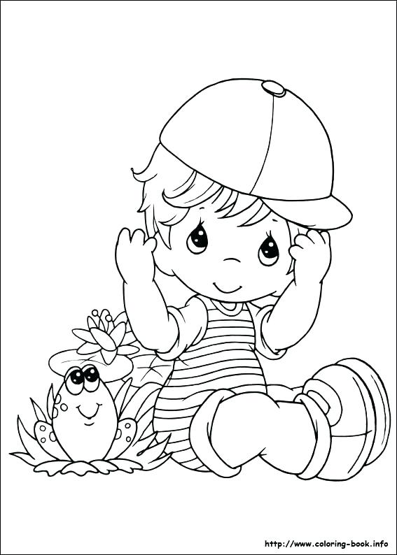 567x794 Precious Moments Letters Coloring Pages Precious Moments Baby