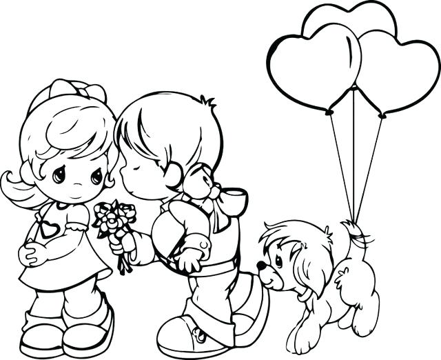 640x522 Precious Moments Valentine Coloring Pages Precious Moments