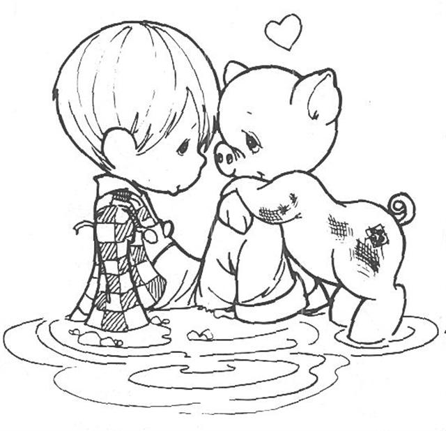 640x618 Precious Moments Boy And Girl Coloring Pages Img