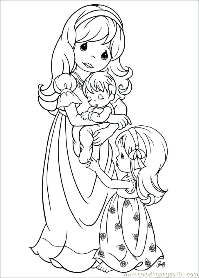 685x960 Coloring Pages Girl Precious Moments Boy And Girl Coloring Pages