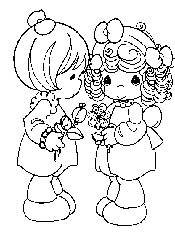 591x792 Easy Printable Precious Moments Coloring Pages