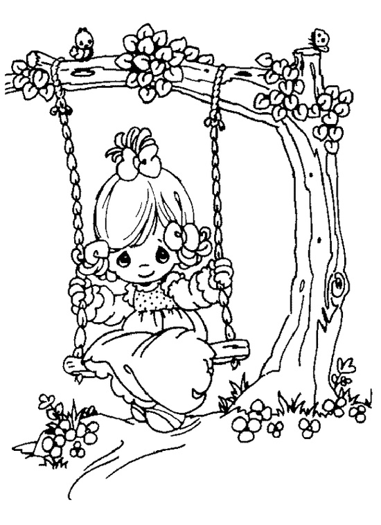 550x758 Free Printable Precious Moments Coloring Pages For Kids