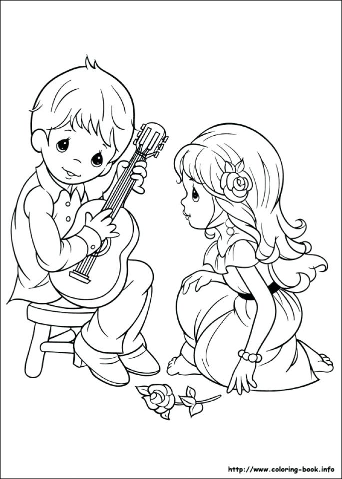 685x960 Girl Color Pages Precious Moments Boy And Girl Coloring Pages