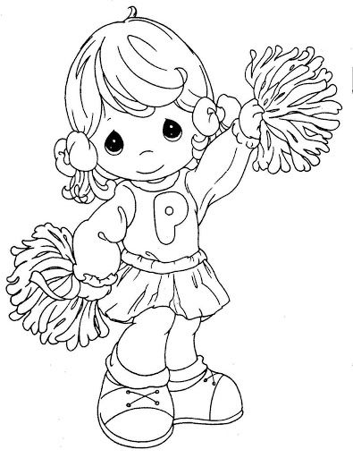 395x512 Precious Moments Angels Coloring Pages Pinto Dibujos Porrista