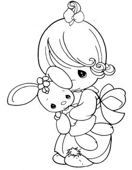 273x350 Precious Moments Coloring Pages Little Cuddle Doll Coloriages