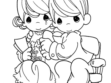 440x330 Precious Moments Halloween Coloring Pages, Precious Moments
