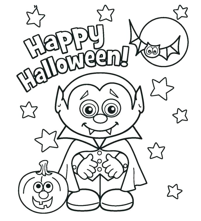 687x754 Hard Halloween Coloring Pages