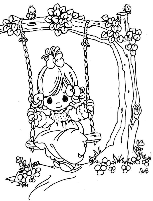 611x800 Coloring Pages Precious Moments Digital Stamps