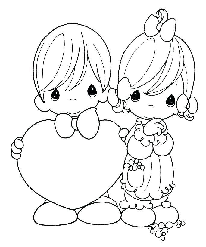 Precious Moments Love Coloring Pages