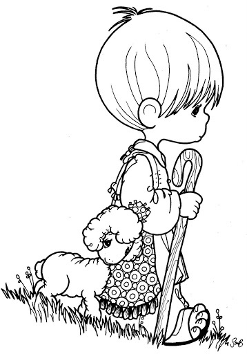 358x512 Precious Moments Nativity Coloring Page Free Download