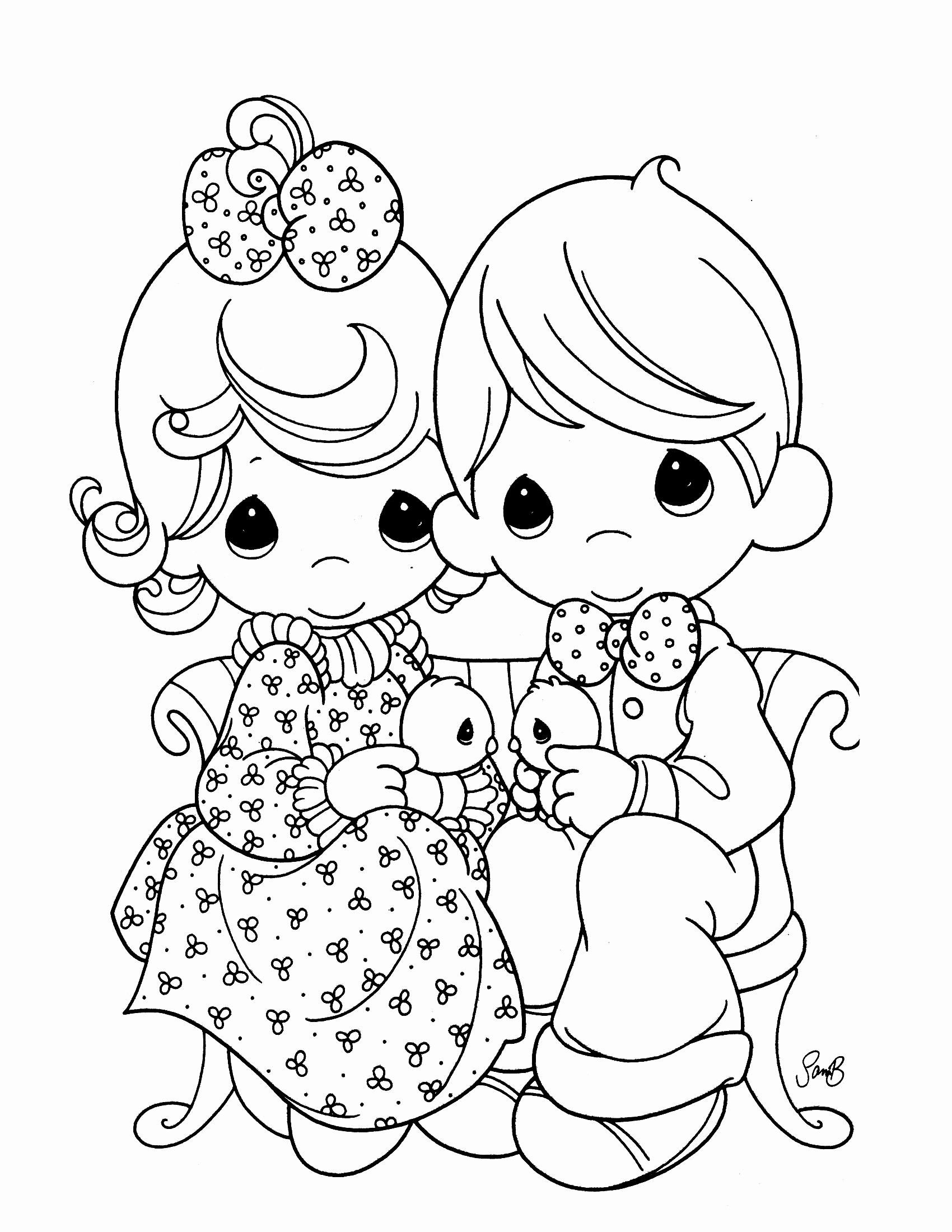 1700x2200 Precious Moments Nativity Coloring Pages