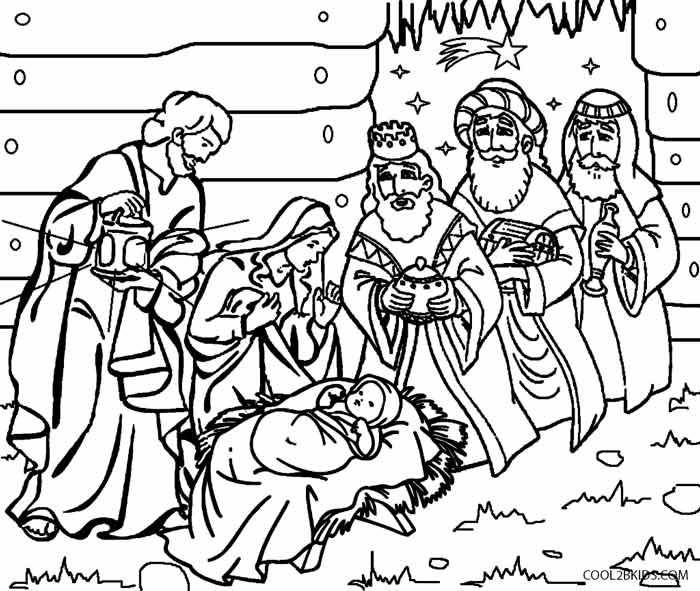 700x591 Printable Nativity Scene Coloring Pages For Kids