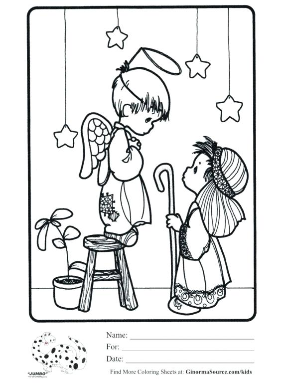 580x770 Precious Moments Christmas Coloring Pages