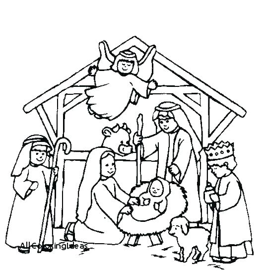 540x546 Nativity Coloring Page Nativity Coloring Book Nativity Coloring