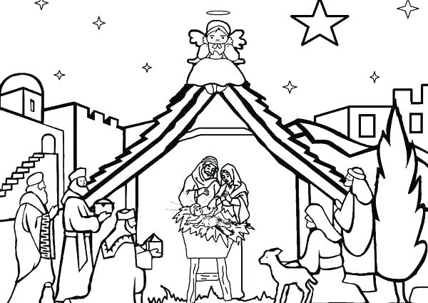 600x425 Nativity Coloring Pages Precious Moments Printable Ages Trend