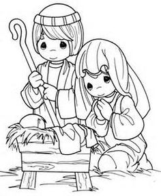 236x286 Nativity Scene Coloring Pages Nativity Scene Precious Moments