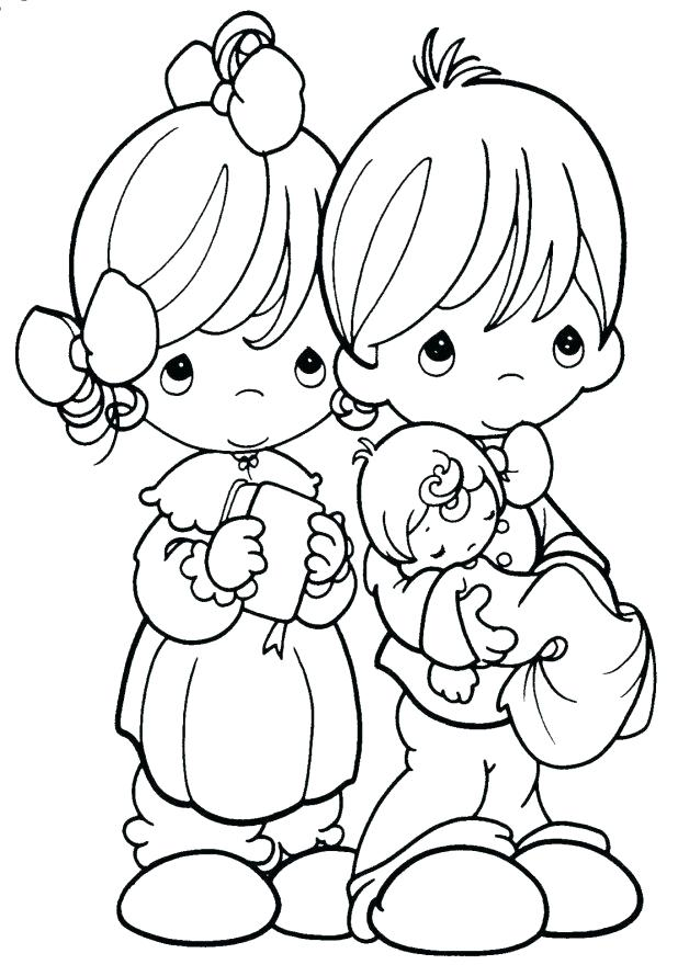 618x890 Precious Moments Christmas Coloring Pages Good Precious Moments