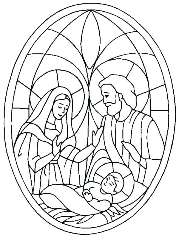 600x799 Coloring Pages Of The Nativity Scene Professional