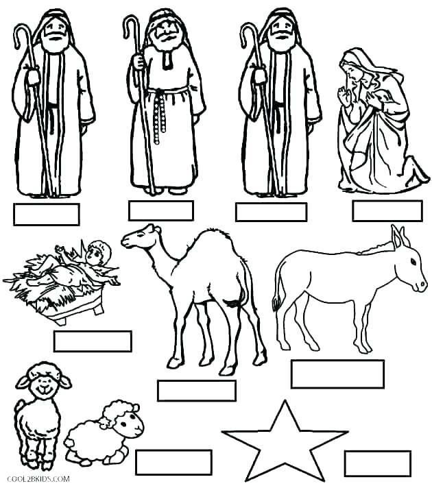 630x709 Nativity Coloring Pages Printable